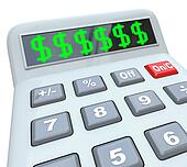 Dollar Signs on Calculator Adding Costs Expensive Budget