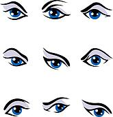 Human eyes set