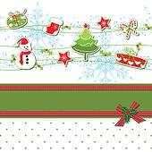 Christmas ornament greeting card