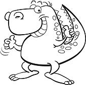 Tryanosaurus Rex for coloring page