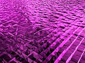 surface with pink cubes made of ice