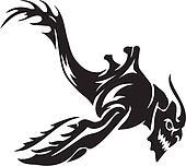 Sea Monster - vector illustration. Vinyl-ready.