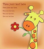 Beautiful card with a giraffe