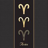 Aries Gold Horoscope Symbols