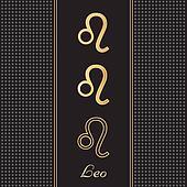 Leo Gold Horoscope Symbols