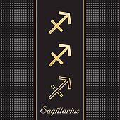 Sagittarius Gold Horoscope Symbols