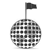 Golf Planet with flag