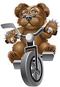 Bear on a bicycle