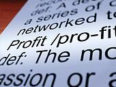 Profit Definition Closeup Showing Income From Business