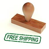 Free Shipping Rubber Stamp Showing No Charge To Deliver