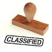 Classified Rubber Stamp Shows Private Correspondence
