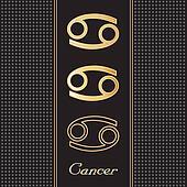 Cancer Gold Horoscope Symbols