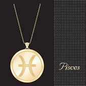 Pisces Gold Pendant Necklace