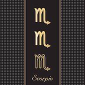 Scorpio Gold Horoscope Symbols