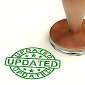 Updated Stamp Showing Improvement Upgrading And Updating
