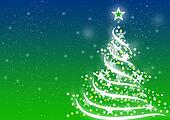 Christmas background Blue Green