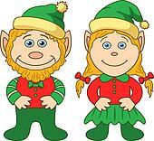 Gnomes, boy and girl