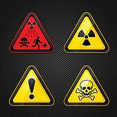 Hazard warning set attention symbols