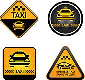Taxi cab set stickers