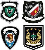 badge emblem set