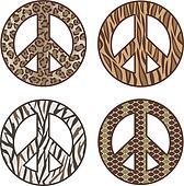 Animal Print Peace Symbols