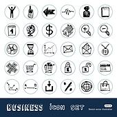 Business, shopping and work icons