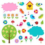Birds,trees and bubbles for speech