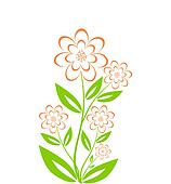 vector illustration of a flower bouquet isolated on white backgr