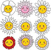Funny Flower Faces
