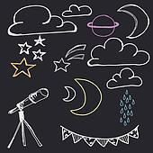 Hand Drawn Night Sky