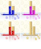 Mascara, lipstick, pencil, Pearl