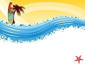 Surf at tropical beach