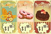 bakery price tags Vintage