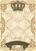Illustration royal background and banner