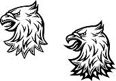 Head of heraldic eagle