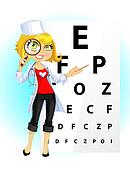 Cute woman doctor - ophthalmologist