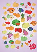 vector coloful fruits
