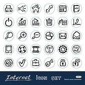 Doodle Internet and finance icons