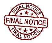 Final Notice Stamp Shows Outstanding Payment Due