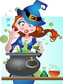 beautiful Witch with copper of poi