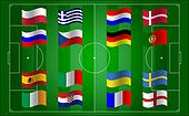 Euro 2012 and flag football field