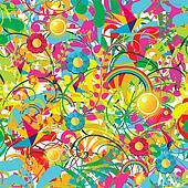 Vibrant floral summer pattern