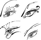 Stylized eyes
