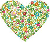 Green floral spring and summer love