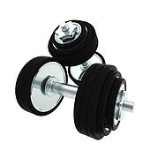 Heavy metal dumbbell pair of two