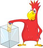 Funny Parrot. Election.