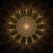 Gold Star Abstract Fractal Design