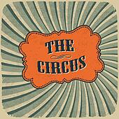Classical Circus Card. Vintage style, retro colors, EPS10