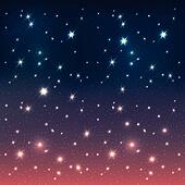 Night sky with stars, EPS10