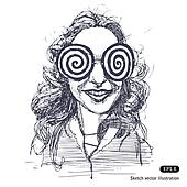 Girl with big round glasses